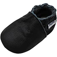 Mejale Baby Boy Girl Shoes Soft Soled Leather Moccasins Anti-Skid Infant Toddler Prewalker