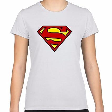 Positivos Camisetas Mujer/Chica - diseño Original Camiseta Chica Superman - L