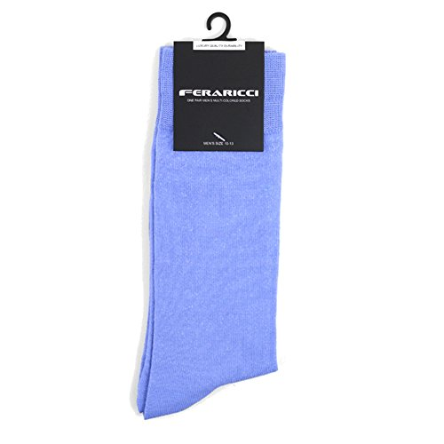 - Men's Contemporary Luxury Solid Crew Dress Socks (French Blue Periwinkle)
