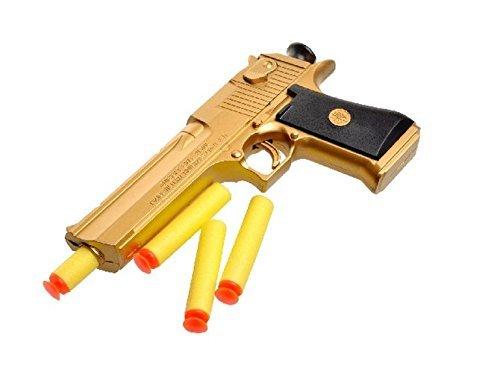 Teanfa Desert Eagle Soft Bullet Toy Gun Gold Edition Children'S Simulation Gun Model