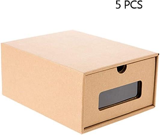 Masiva de almacenamiento Cartón, Caja de almacenamiento robusta Puede almacenar zapatos Ropa interior Calcetines Almacenamiento clasificado Cajón transparente Caja de almacenamiento de escritorio del: Amazon.es: Hogar