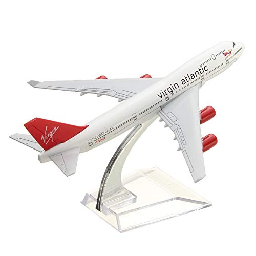 Newton Ball - 160mm Metal Plane Model Aircraft B747 Virgin Atlantic Aeroplane Scale Desk Toy - Kids Years Seven Balance Toys Eight-year-olds 10-year-old Kitchen Women Model Girls 10-year-olds - Models Atlantic Aircraft