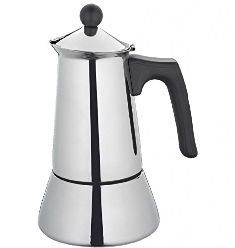 Coffee Cilio Lucia Espresso Maker 6 Cups Polished Stainless Steel Genuine NEW