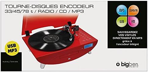 BigBen TD97 - Tocadiscos, rojo: Amazon.es: Electrónica