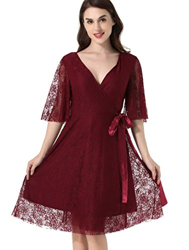 Lace Wrap Dress - 6