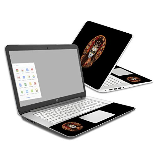 MightySkins Skin Compatible with HP Chromebook 14 (2014) - Dia De Muertos | Protective, Durable, and Unique Vinyl Decal wrap Cover | Easy to Apply, Remove, and Change Styles | Made in The USA]()