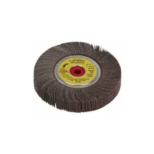 "Chicago Electric Power Tools 6"" x 1"" 80 Grit Flap Sanding Wheel"