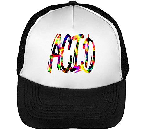 Acid Hippie Coloured Gorras Hombre Snapback Beisbol Negro Blanco