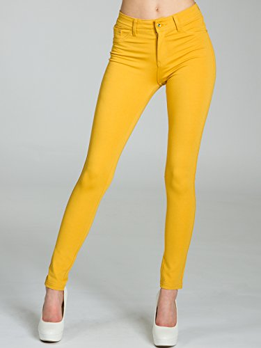 Curry Jeggings Donna CASPAR HLE026 Elasticizzati 8w0qxgOBO