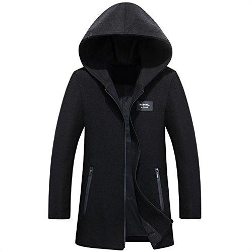 Abrigo lana hombres abrigo chaqueta hombre de para e cuadros de lana abrigo invierno de chaqueta a negro de de invierno XXXXL cazadora otoño rgr5q
