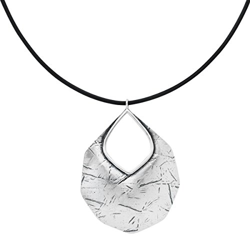 Silpada 'Badge of Beauty' Leather and Sterling Silver Pendant Necklace