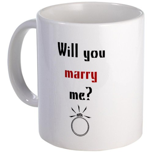 CafePress - Will You Marry Me? Surprise Mug - Unique Coffee Mug, 11oz Coffee Cup (Marry Me Coffee Cup compare prices)