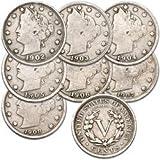 HOBBIES  Amazon, модель U.S. Liberty Head (Barber) Nickels - 7 Coin Grab Bag, артикул B004U3QNJU