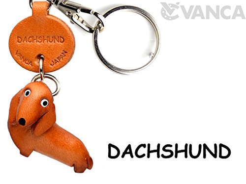 Price comparison product image [Handmade made in Japan,  new,  craftsman] [VANCA present leather key chain dachshund anywhere demo doggy (japan import)