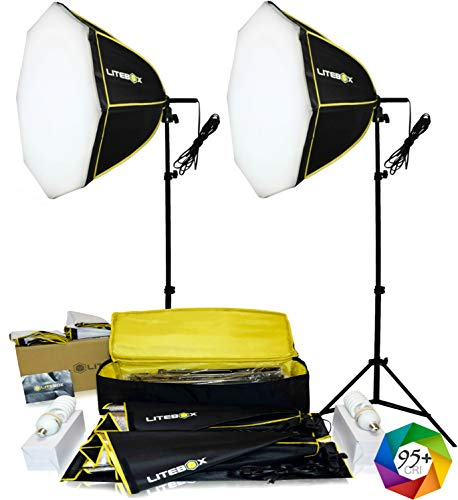 Studio Lights for Photography & Filming YouTube Video Lighting (Professional Continuous Softbox Lighting Kit) - LITEBOX