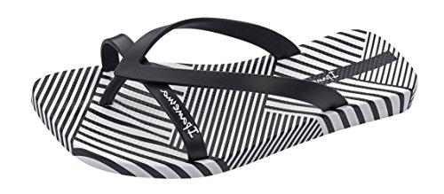 Womens Sandals Black Kirey Flops Flip II Ipanema wXTEx6np