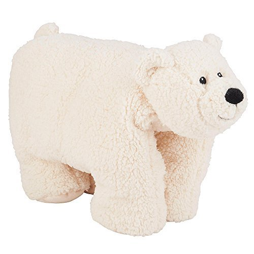 FAO Schwarz 16 inch Polar Bear Pillow - Cream