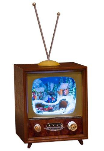 MusicBox Kingdom 51013 TV Music Box Playing Christmas Carols, Small