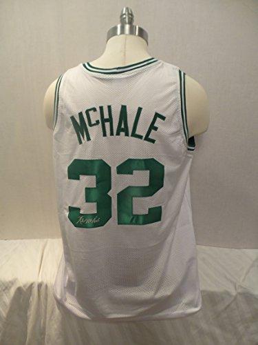 Kevin McHale Signed Boston Celtics White Autographed Custom Men XL Jersey (White Autographed Celtics Jersey)