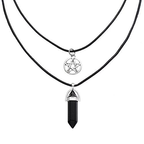 MJARTORIA Natural Multilayer Necklace Adjustable