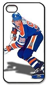 LZHCASE Personalized Protective Case for iPhone 4/4S - NHL Edmonton Oilers #99 Wayne Gretzky