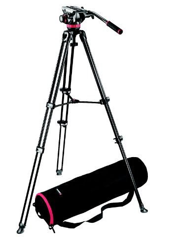 Manfrotto MVK502AM Video Telescoping Twin Leg Kit with 502 Video Head and Carry Bag by Manfrotto