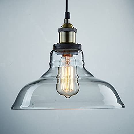 Claxy ecopower industrial edison vintage style 1 light pendant glass claxy ecopower industrial edison vintage style 1 light pendant glass hanging light aloadofball Images