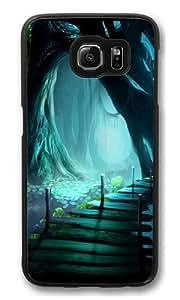 Bridges Fantasy Art Polycarbonate Hard Case Cover for Samsung S6/Samsung Galaxy S6 Black
