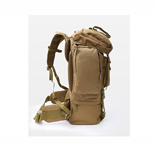 Mountaineering Backpack Digital Large Camouflage Bag 70l Brown Capacity Tactical Camping qWPC8twnf
