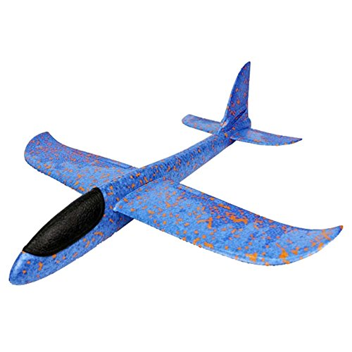 - Wenasi Throwing Glider Inertia Plane Foam Aircraft Toy Hand Launch Roundabout Trick Plane