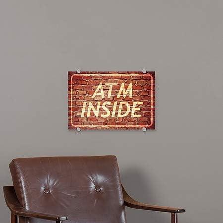 CGSignLab 5-Pack Ghost Aged Brick Premium Brushed Aluminum Sign 18x12 ATM Inside