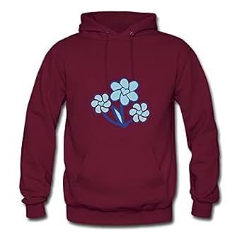 Cotton Fashionable Flower Heart Women Customizable X-large Hoodies Burgundy