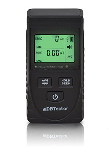DBTector EMF Meter Electric and Magnetic Field Meter Detect Radiation from Appliances, Computers, Electrical Boxes, Electrical Wires, High Power Transmission Lines ()