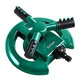 Aolun R108 Garden Sprinkler- Automatic Lawn Water Sprinkler 360 Degree 3- Arm Rotating Sprinkler System