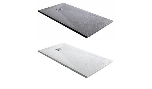 Plato de ducha rectangular de efecto mármol blanco o gris almohadillado. 70 x 120, 80 x 120, 70 x 140, 80 x 140 cm: Amazon.es: Bricolaje y herramientas