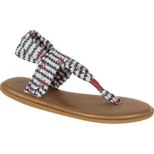 2 Line the Sling Yoga Womens Sandals Sanuk Knot Natural EHvqZ