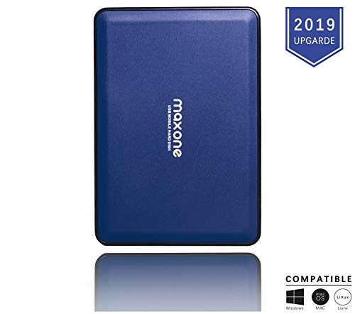 Portable External Hard Drive 160GB - Maxone Upgrade Portable HDD USB 3.0 for PC, Laptop, Mac, Chromebook, Smart TV - Blue