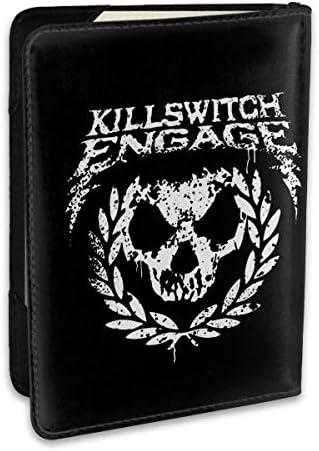 Killswitch Engage キルスウィッチエンゲイジ パスポートケース メンズ 男女兼用 パスポートカバー パスポート用カバー パスポートバッグ ポーチ 6.5インチ高級PUレザー 三つのカードケース 家族 国内海外旅行用品 多機能