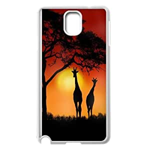 Yo-Lin case FXYL253597Giraffe and sunset protective case cover For Samsung Galaxy NOTE4 Case Cover