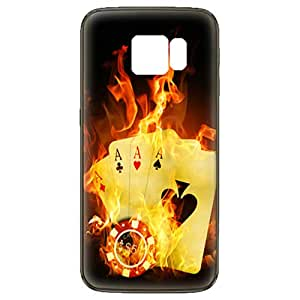 Samsung Galaxy S6 Edge Old Vintage Cards and Gambling Chip Design Case - Multi Color