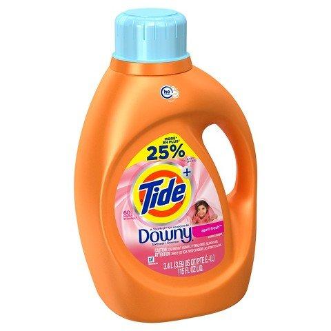 Tide Plus HE Touch of Downy April Fresh Liquid Laundry De...
