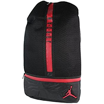 64c9b59d72c6 Amazon.com  Jordan All Net Laptop Backpack (Black Gym Red ...