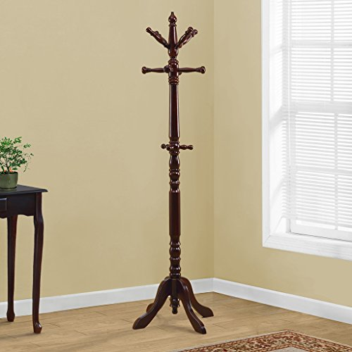(Monarch Specialties Traditional Solid Wood Coat Rack, Cherry)