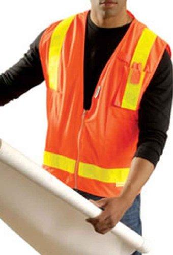 Occunomix LUX-SSLSDZ-OM Class 2 High Visibility Premium Solid/Mesh Gloss Vest, Medium, (Lux Mesh Vest)