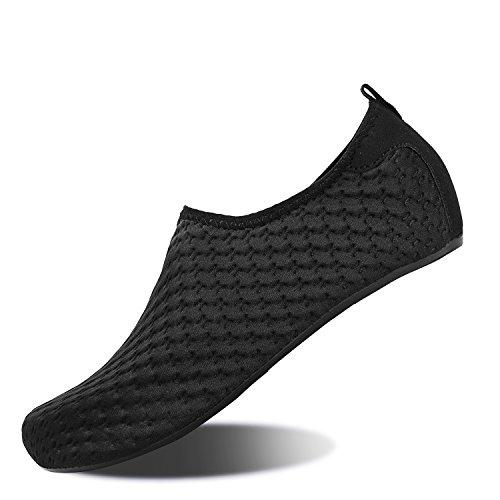 Yh schwarz Badeschuhe Strandschuhe Rutschfeste Schwimmen Barfuß Wassersport Herren Damen für Yoga Leicht Schuhe Aqua 7BO4Bq