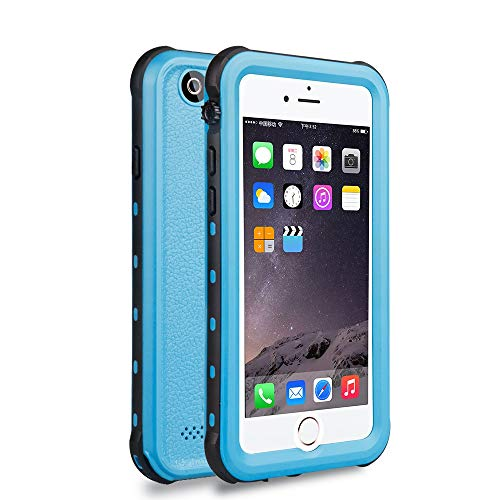 (Red Pepper Waterproof For iPhone 6 6s Case 4.7 inch Blue strike proof Snow proof Dirt Proof 3 Protection Case Cover with finger Print)