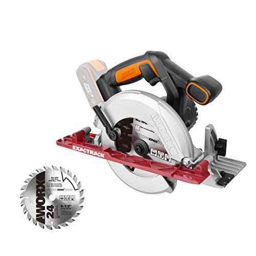 WORX WX530.9 EXACTRACK Cordless Circular Saw, 20 V, Black