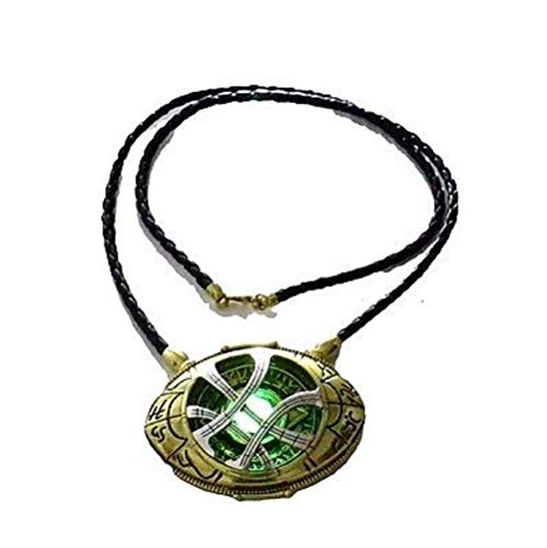 - 71mm Dr Doctor Strange Eye of Agamotto Amulet Pendant Necklace Glow in The Dark