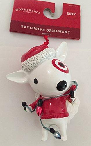 2017 TARGET Bullseye Spot Bull DOG Mascot Wondershop Christmas Ornament