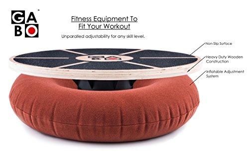 The GABO Board Infinitely Adjustable Wobble Balance Trainer + Free eBook Improve Your Balance, Improve Your Life